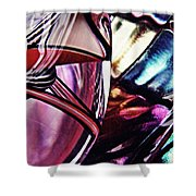 Glass Abstract 523 Shower Curtain