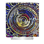 Glass Abstract 587 Shower Curtain