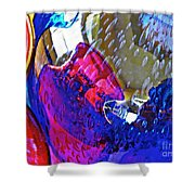 Glass Abstract 609 Shower Curtain