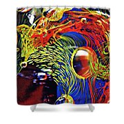 Glass Abstract 630 Shower Curtain