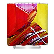 Glass Abstract 649 Shower Curtain