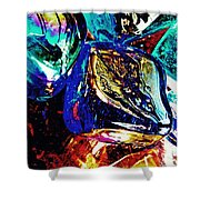 Glass Abstract 687 Shower Curtain