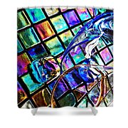 Glass Abstract 696 Shower Curtain