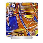 Glass Abstract 768 Shower Curtain