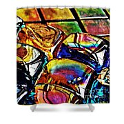 Glass Abstract Shower Curtain