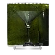 Glass And Bottle Shower Curtain