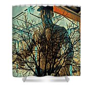 Glass And Branches  Shower Curtain
