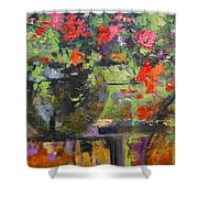 Glass And Flowers Shower Curtain