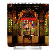 Glass And Mirror Room City Palace Udaipur Shower Curtain