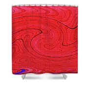 Glass And Steel Building Red Abstract Shower Curtain