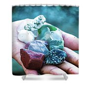 Glass And Stone Shower Curtain