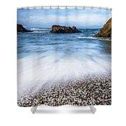 Glass Beach Shower Curtain