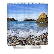 Glass Beach, Fort Bragg California Shower Curtain