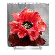 Glass Flower Shower Curtain