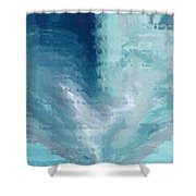 Glass Heart Shower Curtain