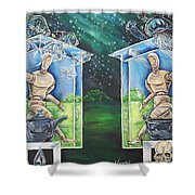 Glass Houses Shower Curtain