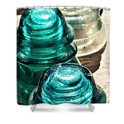 Glass Insulators Shower Curtain