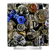 Glass Knobs Shower Curtain