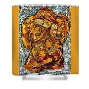 Glass Lady Shower Curtain by Sarah Loft