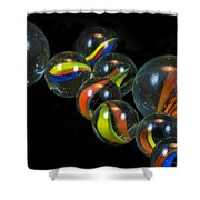 Glass Marbles Shower Curtain
