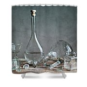 Glass Shower Curtain by Nailia Schwarz