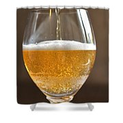 Glass Of Lager Shower Curtain