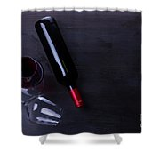 Red Wine Set Shower Curtain