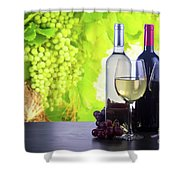 Enjoying Wine Shower Curtain