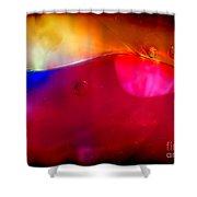 Glass Paint Abstract Dark Shower Curtain