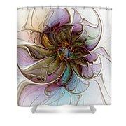 Glass Petals Shower Curtain