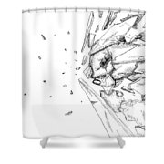 Glass Punch Shower Curtain