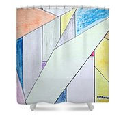 Glass-scrapers Shower Curtain