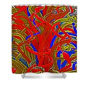 Glass Sculpture A-la Monet 2 Shower Curtain