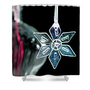 Glass Star Decoration Shower Curtain