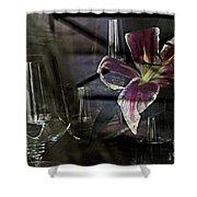 Glass Still Life #1. Shower Curtain