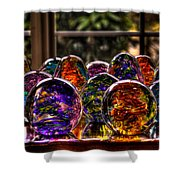 Glass Symphony Shower Curtain by David Patterson
