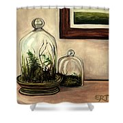 Glass Terrariums Shower Curtain