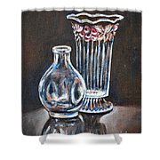 Glass Vases-still Life Shower Curtain