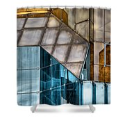 Glassed Shower Curtain