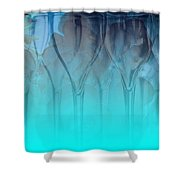Glasses Floating Shower Curtain