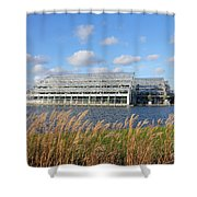 Glasshouse At Rhs Wisley Surrey Uk Shower Curtain