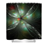 Glassworks Fractal Shower Curtain