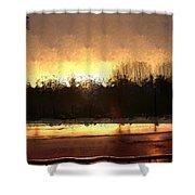 Glassy Dawn Shower Curtain