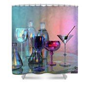 Glassy Still Life Shower Curtain