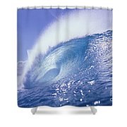 Glassy Wave Shower Curtain by Vince Cavataio - Printscapes