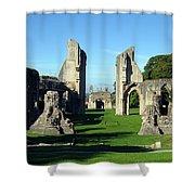 Glastonbury Abbey 1 Shower Curtain