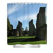 Glastonbury Abbey 3 Shower Curtain