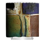 Glaze Painting Shower Curtain