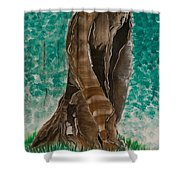 Glazing Veins Shower Curtain