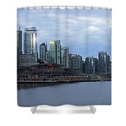 Gleaming Cityscape. Vancouver At Dawn  Shower Curtain